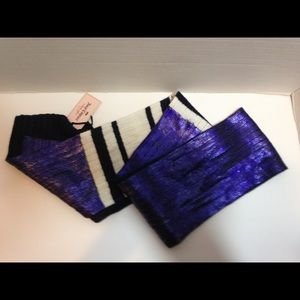 Juicy couture Purple white and black winter scarf